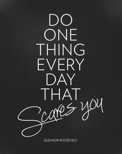 Do something today that scares you blog by liam kearney